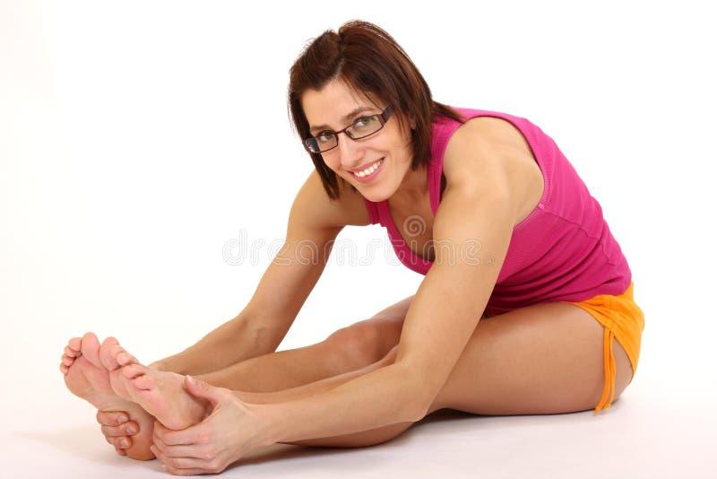 Yogafrau stockbild
