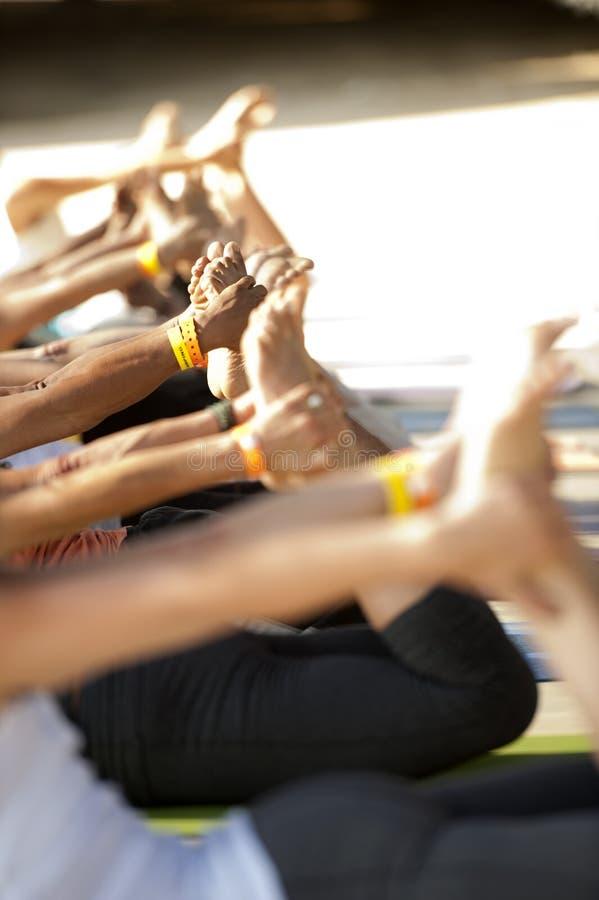 Yogagrupp royaltyfria foton