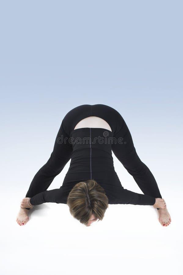 Yogahaltung stockbild