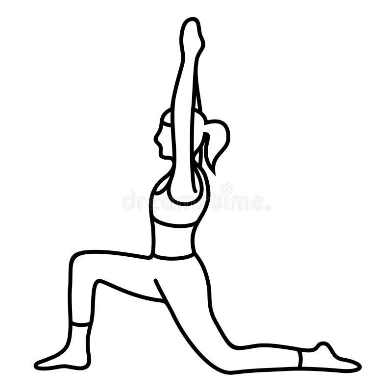 Yogahaltung asana, Haltung, Lage Vektor-flache Entwürfe lizenzfreies stockbild