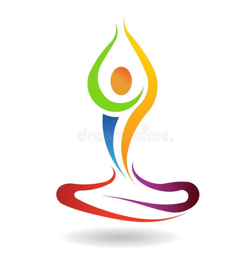 Yogahaltungsfrieden stock abbildung