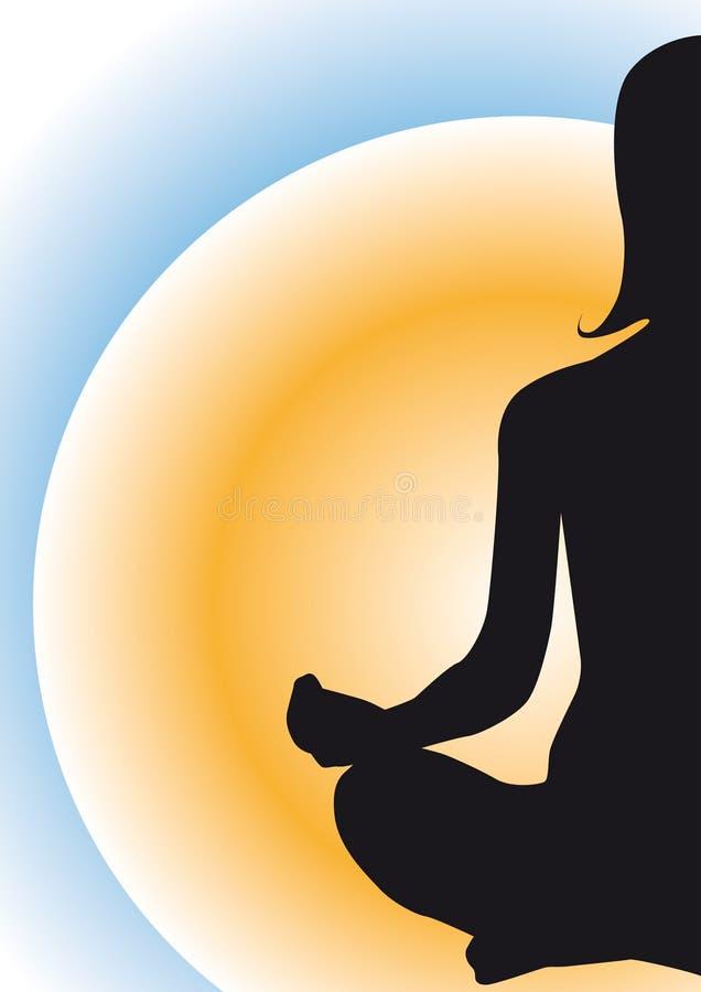 Yogahorizont ilustração royalty free