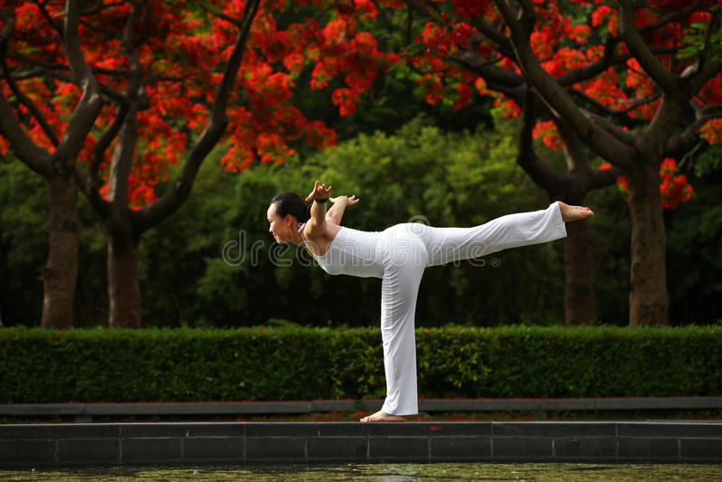 Yogajämvikt arkivfoton