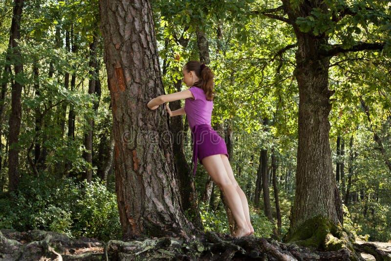 Yogakvinna royaltyfria foton