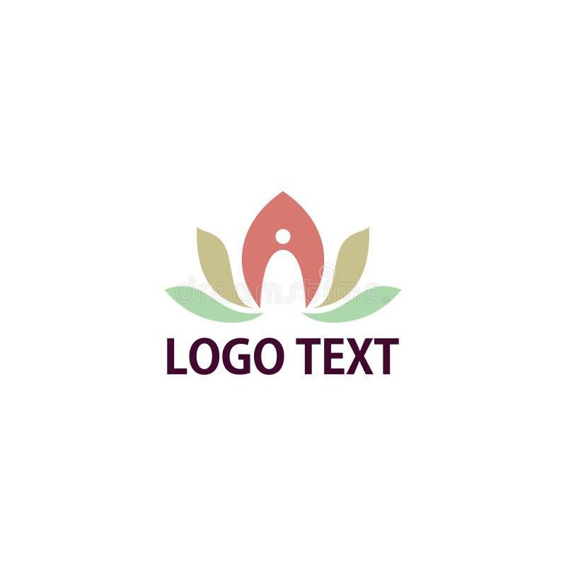 Yogalogo lizenzfreie stockfotografie