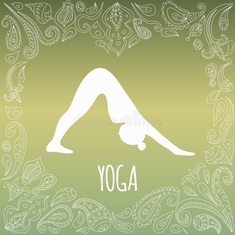 Yogalogo stockbild