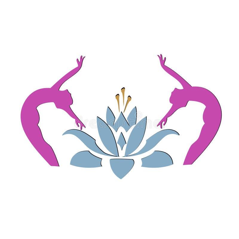 Yogalotosikone stock abbildung