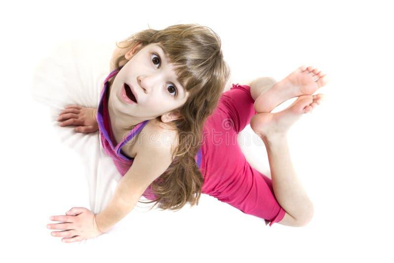 Yogamädchen lizenzfreies stockfoto