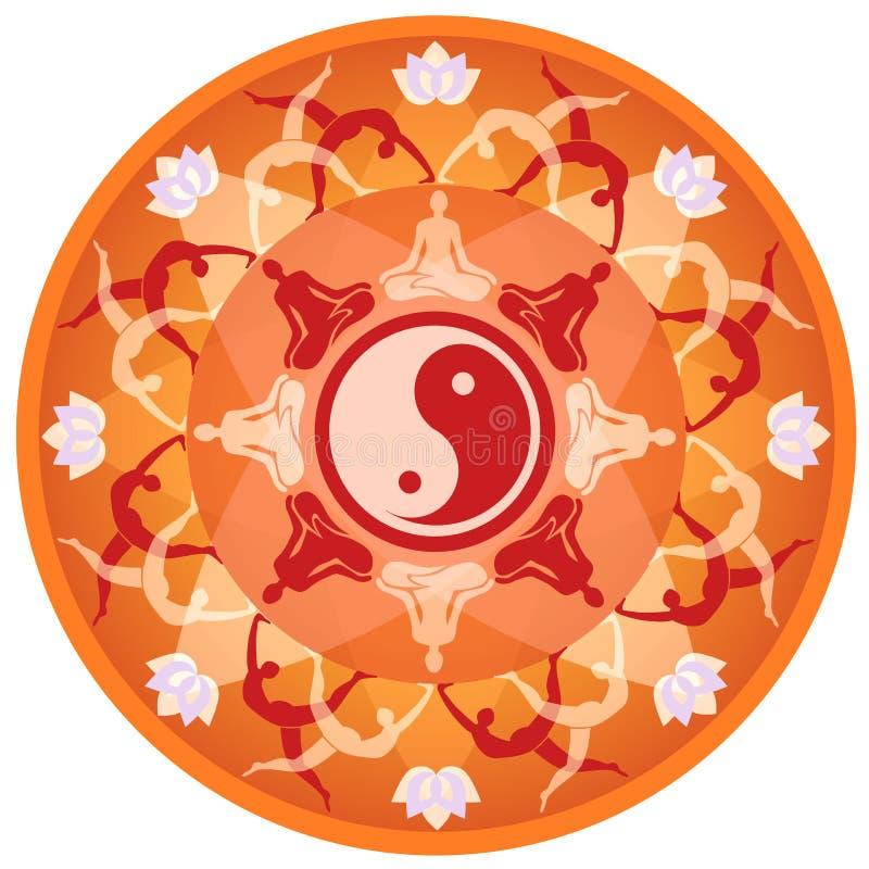 Yogamandala stock illustrationer