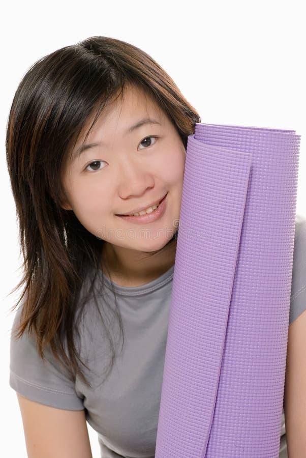 Yogamatte stockbilder