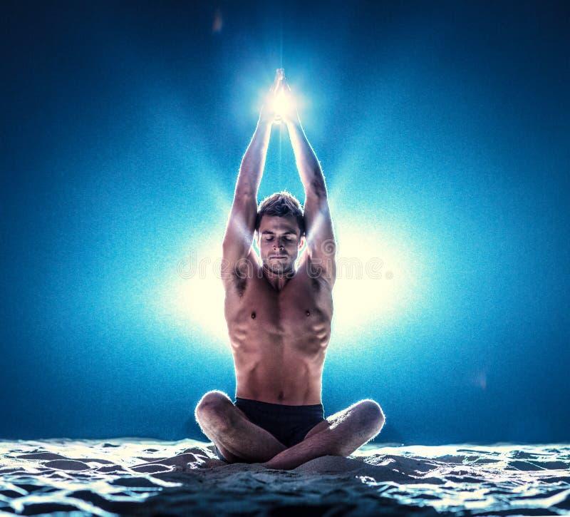 Yogameditatie stock afbeelding