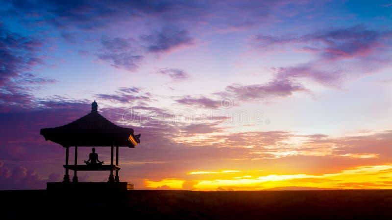 Yogameditatie royalty-vrije stock fotografie