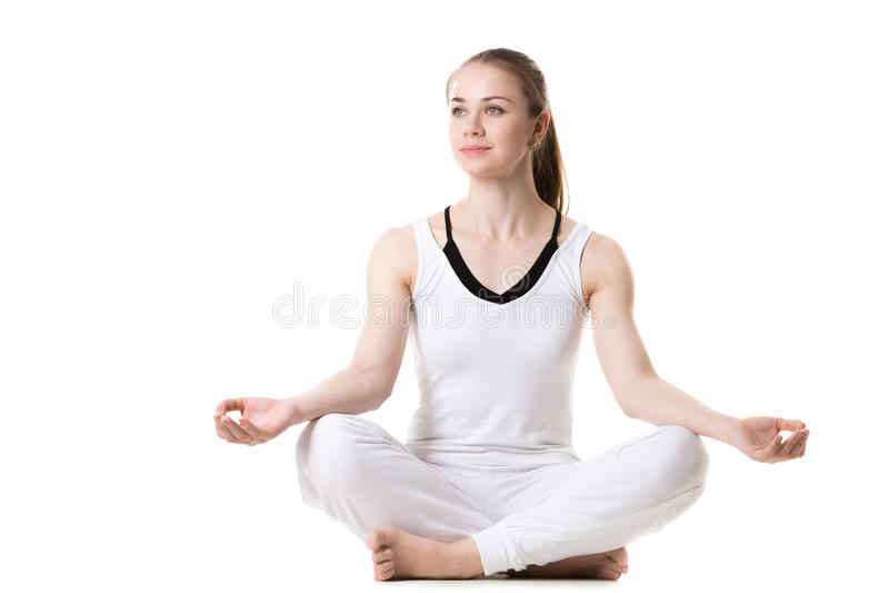 Yogameditatie royalty-vrije stock foto's