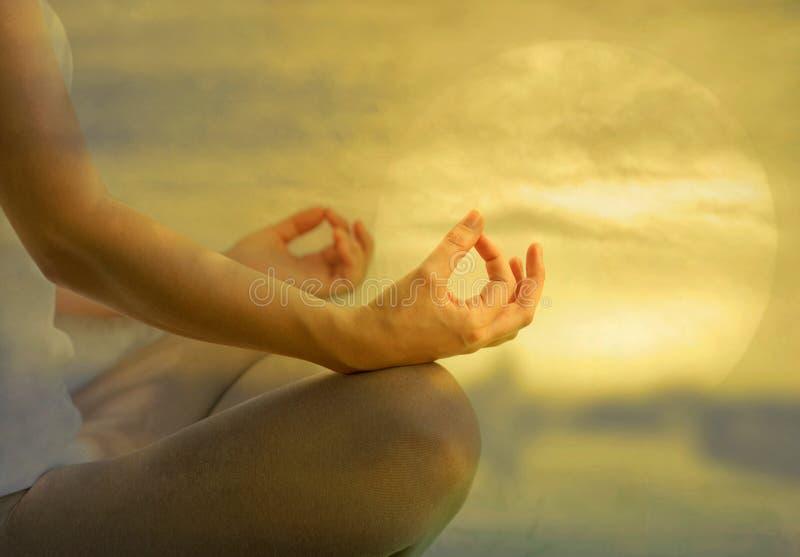 Yogameditatie stock fotografie