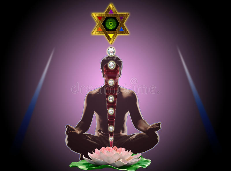 Download Yogameditation stockfoto. Bild von meditieren, karosserie - 13786864
