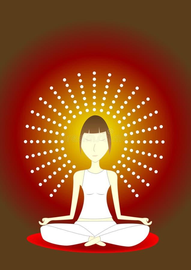 Yogameditation stockfotografie