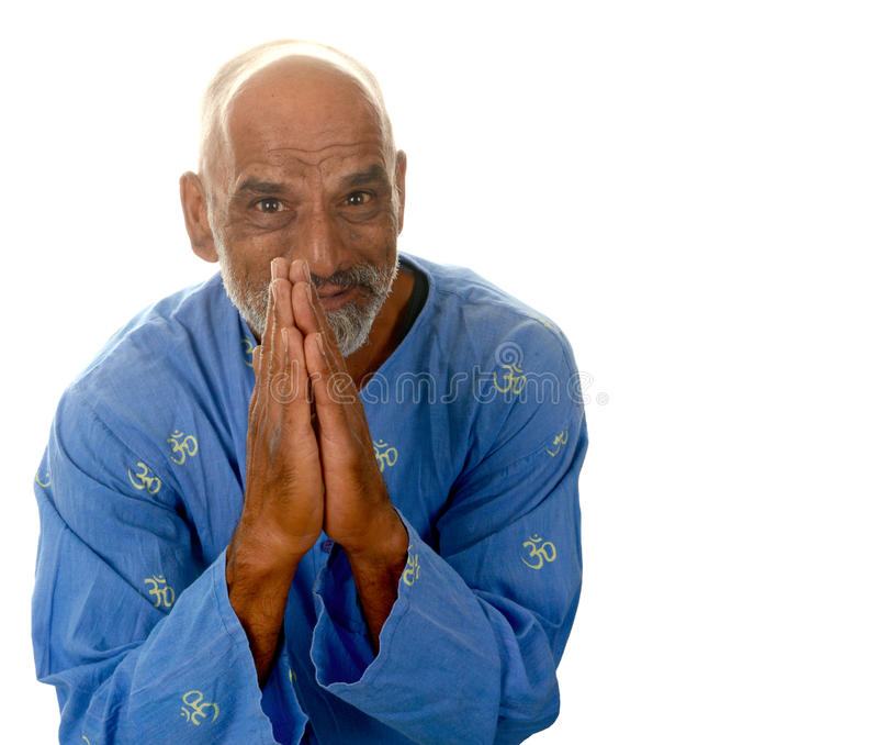 Yogameester stock foto's
