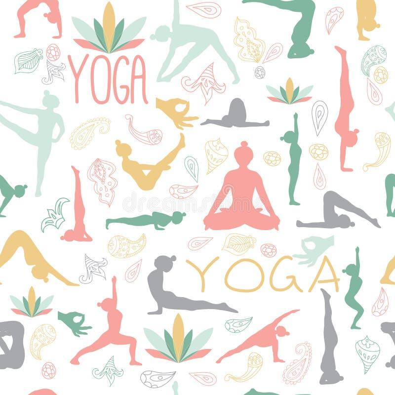 Yogamuster stockbilder