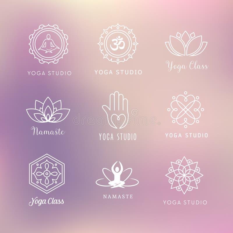 Yogapictogrammen - Symbolen vector illustratie