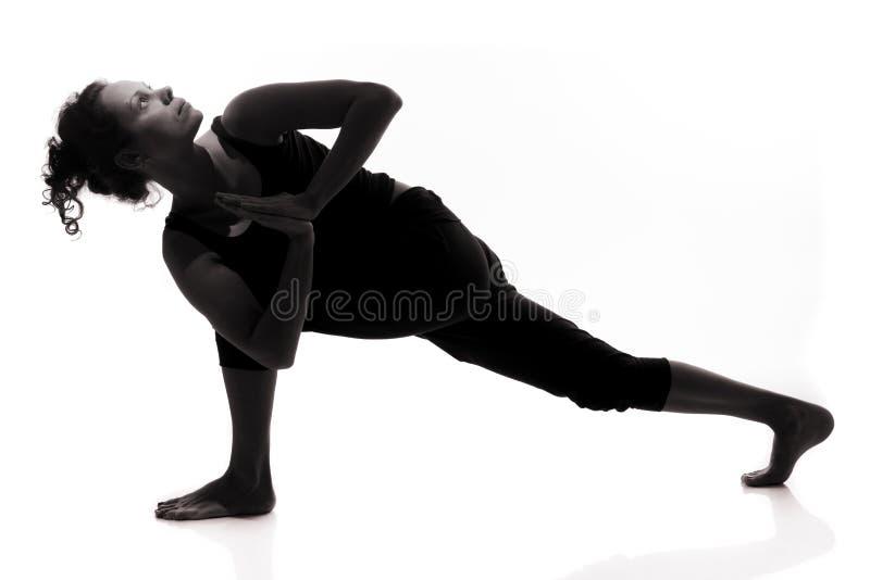 Yogaschattenbild stockbilder