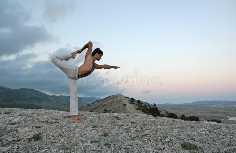 Yogaserie lizenzfreies stockbild