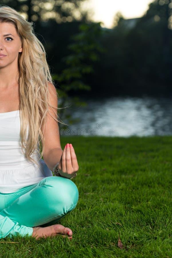 Yogastijl royalty-vrije stock afbeeldingen
