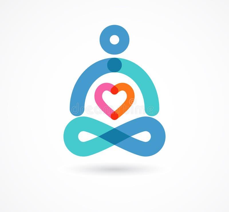 Yogasymbol, beståndsdel och symbol vektor illustrationer