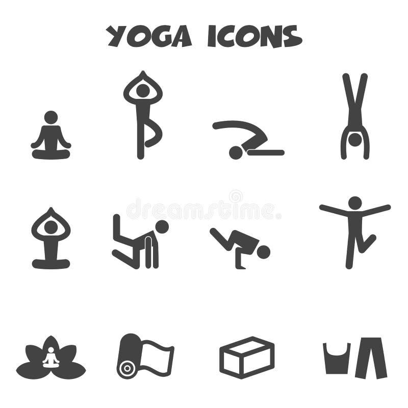 Yogasymboler stock illustrationer