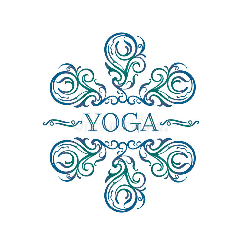 Yogasymbool vector illustratie