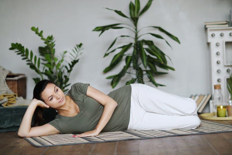 Yogatraining royalty-vrije stock foto