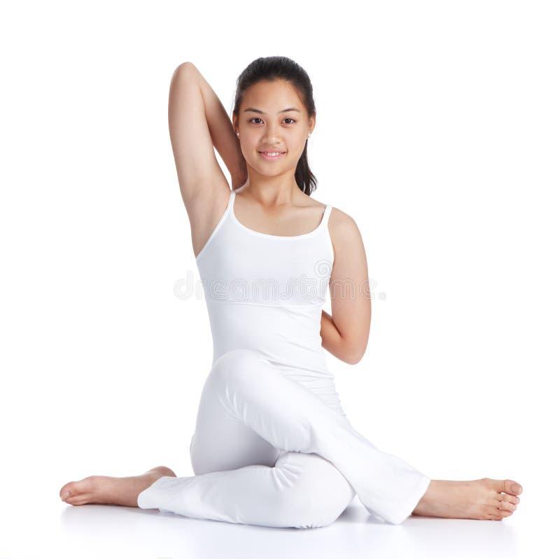 Yogatraining lizenzfreie stockfotos