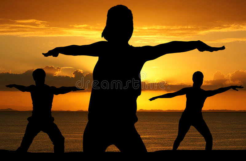Yogatraining stock foto's