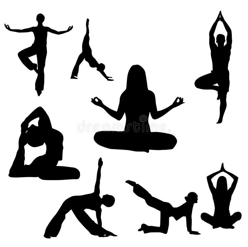 Yogavektorabbildung stock abbildung