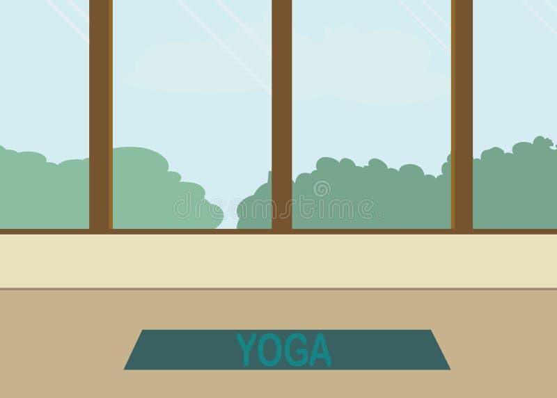 Yogazaal stock illustratie