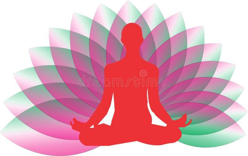 Yogazenlogo stock illustrationer