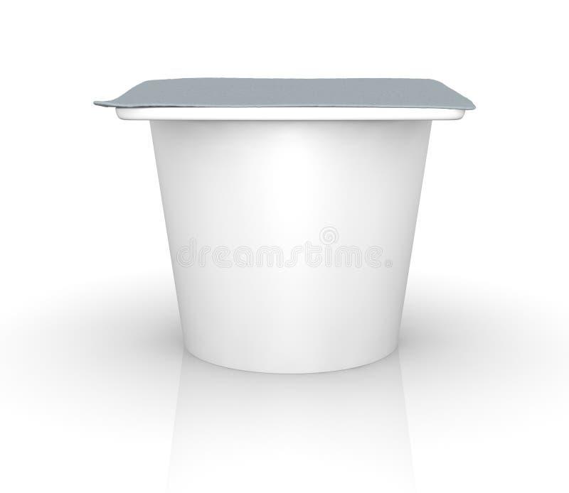 Yoghurt cup royalty free illustration