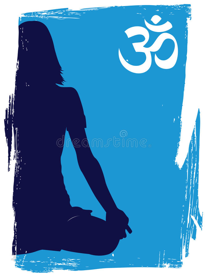 Download Yogi stock vector. Image of grunge, faith, buddhism, reiki - 12458964