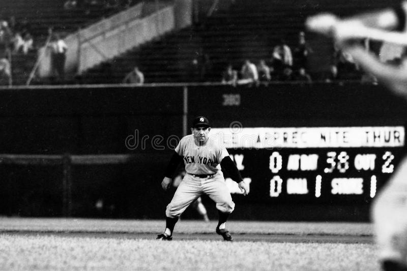 Yogi Berra-New York Yankees stockbild