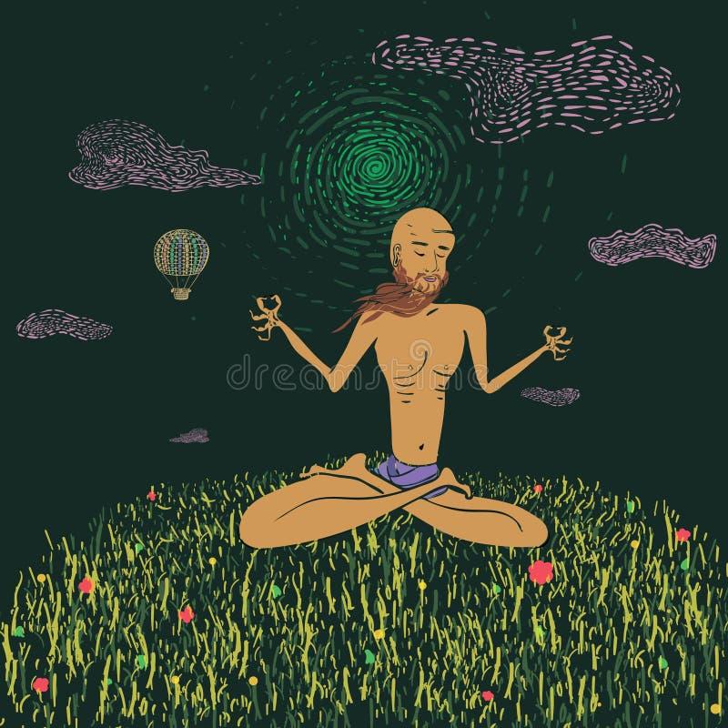 Yogi stock illustration