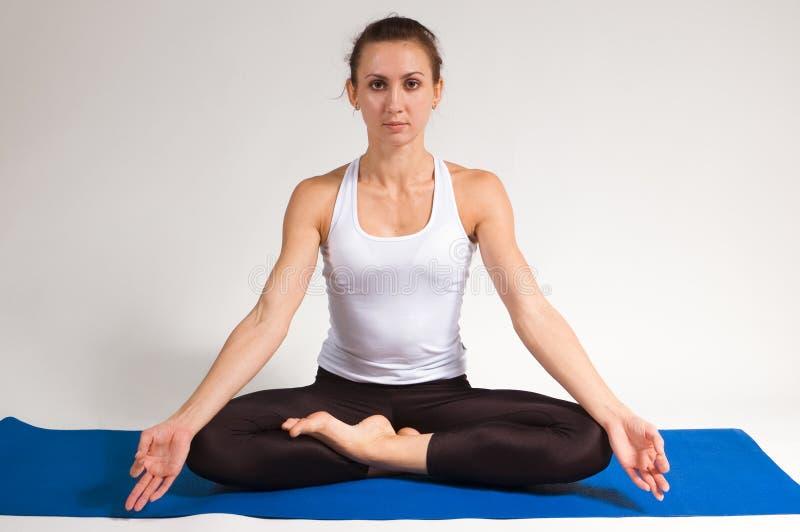 Yogi girl. Set of young attractive girl doing yoga exercise. 68 of 116 royalty free stock image