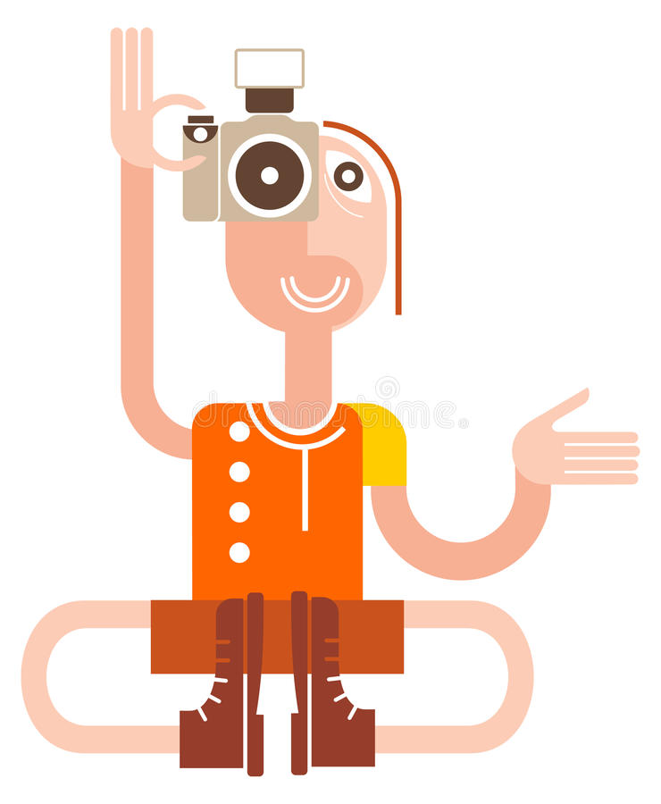 Yogi Photographer stock illustration