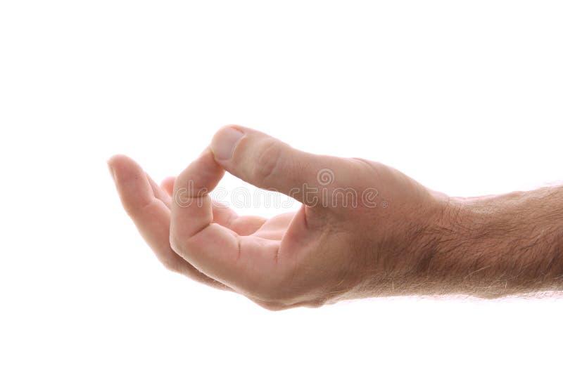 Yogic Handstellung gyan getrennt auf Weiß stockfotos