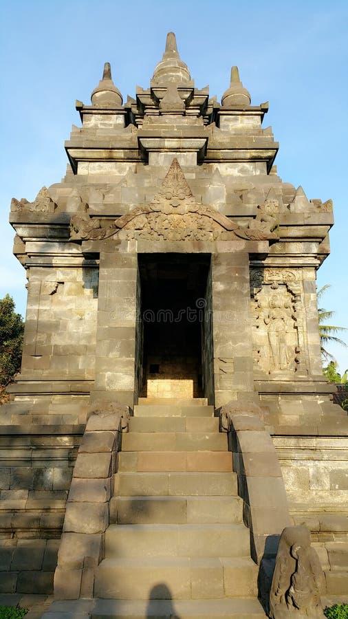 Yogjarkata's candi entrance royalty free stock image