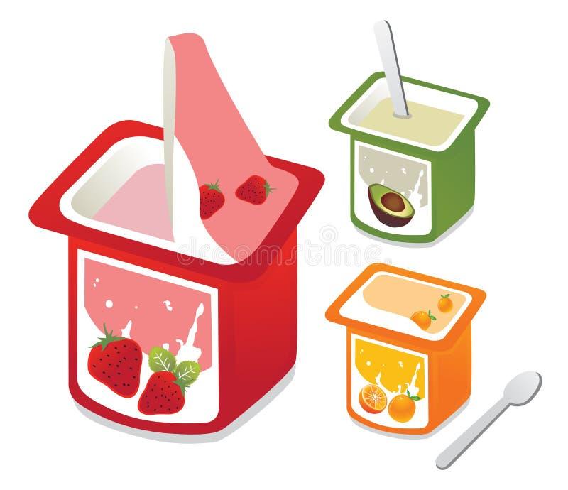 Yogur fresco stock de ilustración