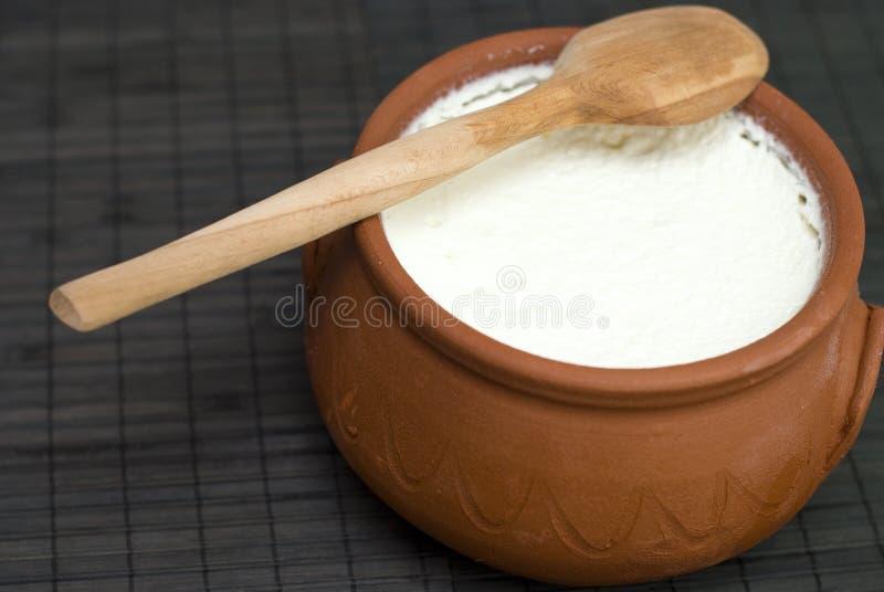Yogur hecho en casa imagen de archivo libre de regalías