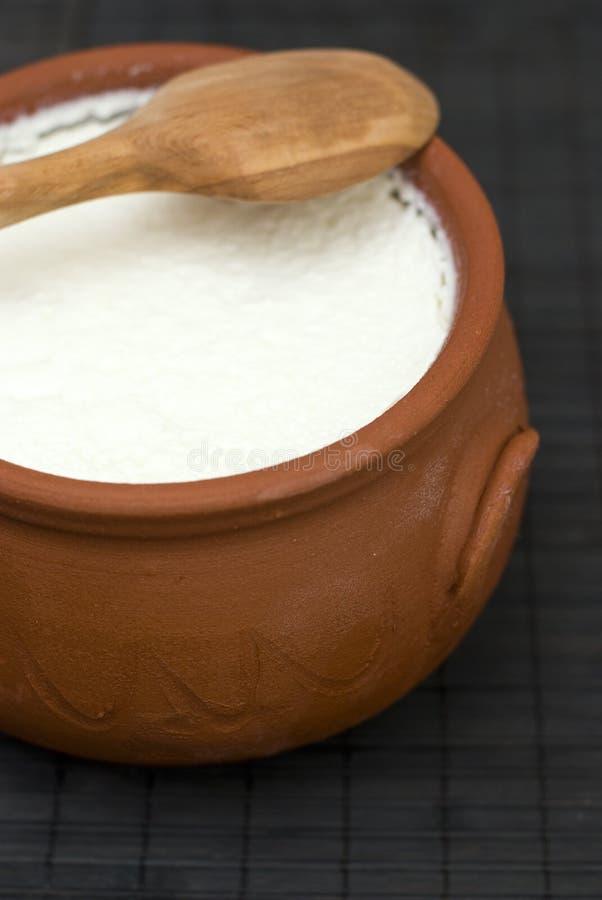 Yogur hecho en casa imagen de archivo