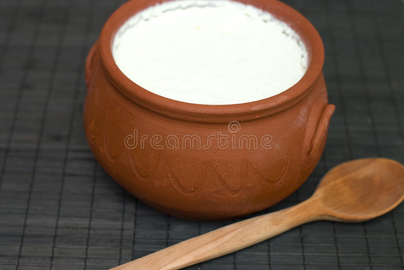 Yogur hecho en casa imagenes de archivo