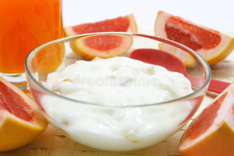 Yogurt fotografie stock