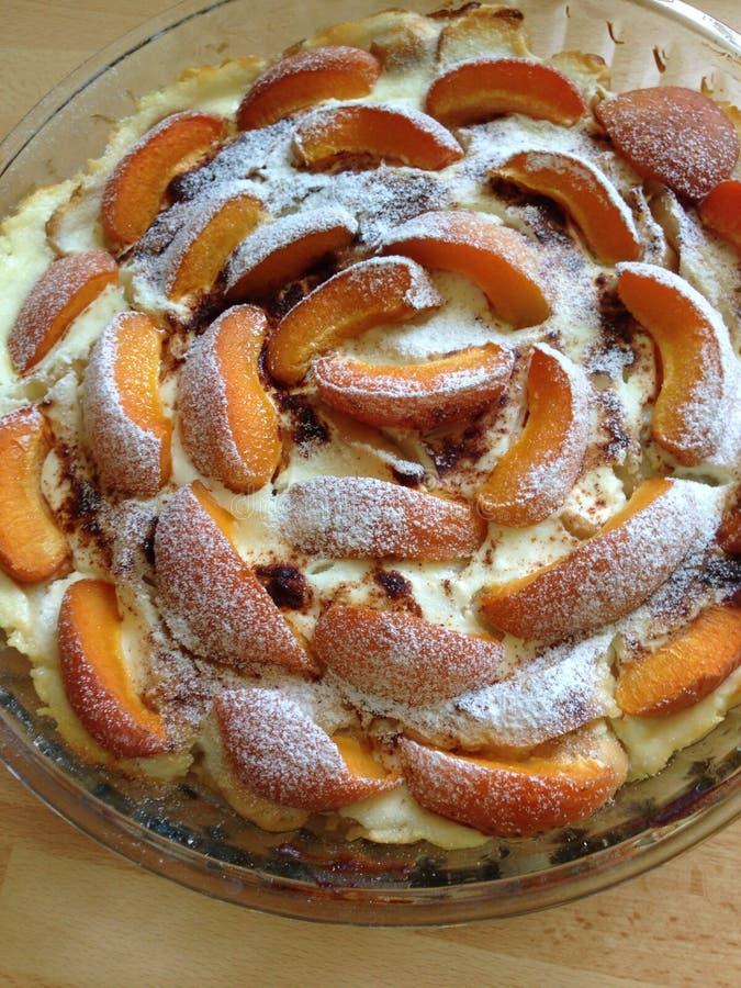 Yogurt cake with apricot royalty free stock photo