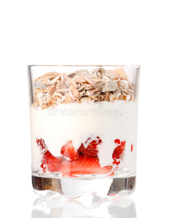 Yogurt with cereal royalty free stock image